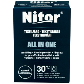 Nitor All in One Tekstilfarge Blå