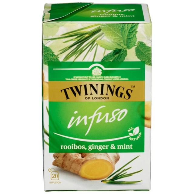 Twinings Infuso Rooibos/Ginger/Mint 20 poser
