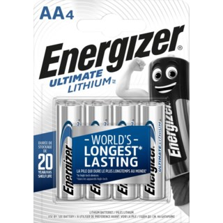 Energizer® Ultimate Lithium AA batterier