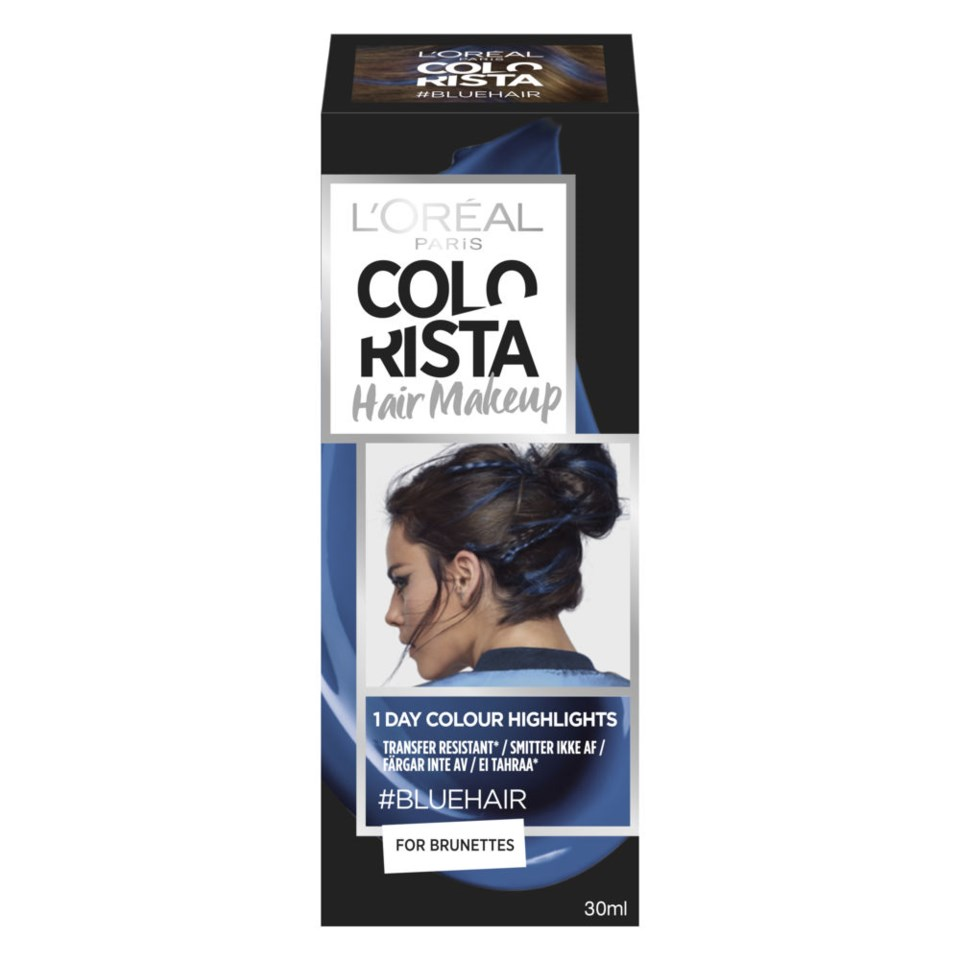 Colorista Hair Makeup Blue