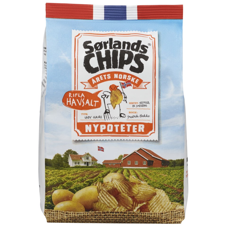 Sørlandschips Nypotet Havsalt Rifla 150g