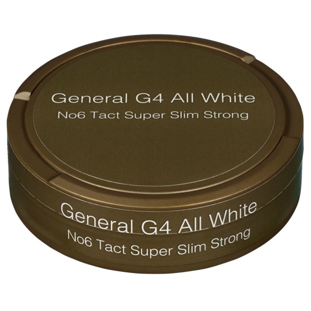 General G4 No6 Tact Super Slim White Strong 11g