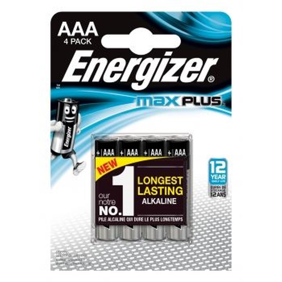 Energizer® Max Plus AAA-batterier