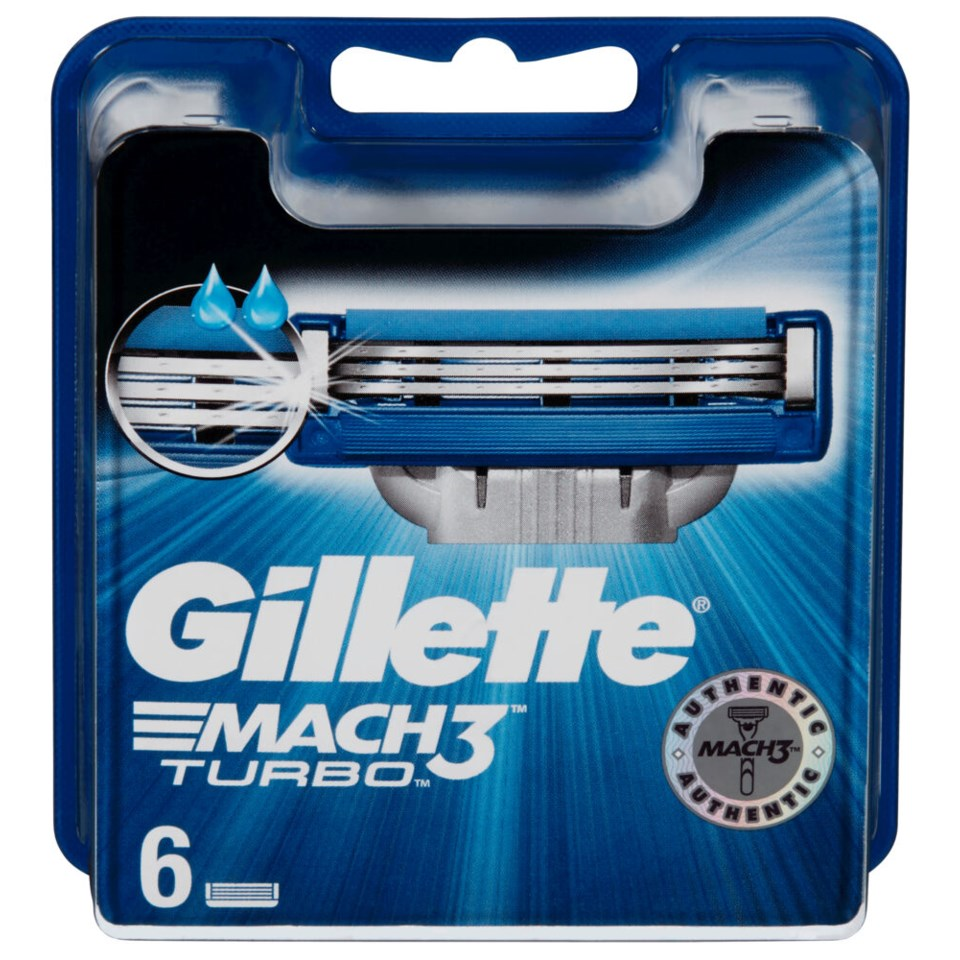 Gillette Barberblad Mach3 Turbo 6 blader